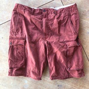 Levi's rust colored denim shorts size 38